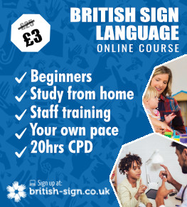British Sign Language Online Course advert